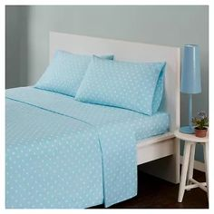 Mi Zone Polka Dot Twin Sheet Set In Aqua - Brighten up your bedroom with the lively Mi Zone Polka Dot Sheet Set. Decked out in a fun polka dot print in an array of fashionable colors, the trendy sheet set is the perfect way to complete your bold bedding. Percale Sheets, Cotton Sheets, Cotton Sheet Sets, Twin Sheets, Twin Sheet Sets, Flat Sheets, Bed Sheets, Aqua Bedding, Bedding Shop