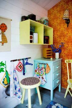 Playhouse inspiration. Fun with colors and patterns