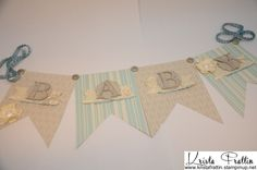 Soft Vintage Baby Banner using Stampin' Up! products. Baby Banners and more! : Krista's Blog