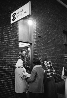 Elvis chats with some fans who came to greet him. NYC CBS Studio, 1956 © Alfred Wertheimer