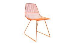 Gaurav Nanda / Bend Goods #fuorisalone #lambrate #din2016 #chair #iron #orange #lines #colours #fromUsa #pinDin