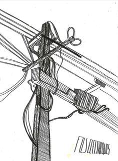 wire sketch Margaux Giron https://www.behance.net/margauxgm