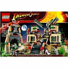 "Lego Indiana Jones 7627 - Temple of the Crystal Skull with Indiana Jones, Mutt Williams, Irina Spalko, Russian Guard, 2 Ughs Warriors, Armored Skeleton and 3 Akator Skeleton Minifigures by LEGO. $229.99. Base measures 15"" x 10""!. Temple stands 10"" (25cm) high and features moving staircases, hidden rooms, flying objects and lots of cool details!. For age 8 - 14. Includes Indiana Jones, Mutt WilliamsTM, Irina SpalkoTM, Russian Guard, 2 Ughs WarriorsTM, armored skeleton and 3 Aka..."