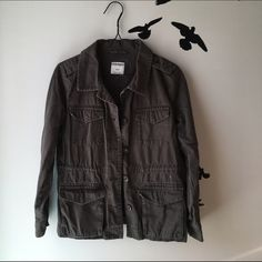 Charcoal Gray Cargo Military Jacket Color: Gray Size: Small Brand: Old Navy Material: 100% Cotton Old Navy Jackets & Coats Utility Jackets