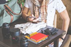 Free Image: Man Packing His Things on Vacation | Download more on picjumbo.com!