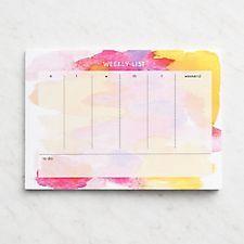 Watercolor Pink Weekly Deskpad