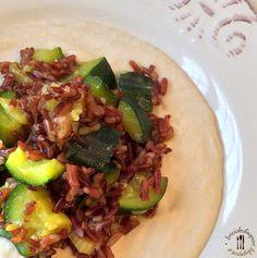 Riso rosso integrale con zucchine e curry