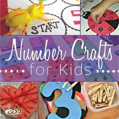 Number Crafts for Kids http://thestir.cafemom.com/toddlers_preschoolers/185700/10_kid_crafts_that_help?utm_medium=sm&utm_source=pinterest&utm_content=thestir