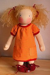 Waldorf doll clothes t-shirt dress