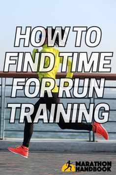 One of the biggest day-to-day problems faced by runners is simply how to find time to run.Whether you're just starting your running habit or training for a marathon, these tips are awesome for helping you find and make the time for run training! Marathon Training, Big Day, Running, Racing, Keep Running, Track