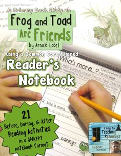 """A Reader's Notebook for """"Frog and Toad Are Friends."""""""