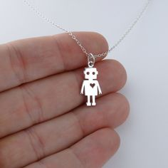 FashionJunkie4Life - Robot Necklace - 925 Sterling Silver, $18.00 (http://www.fashionjunkie4life.com/robot-necklace-925-sterling-silver/)