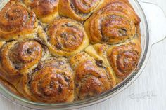 Brioche Chinoise | Bonviváni Czech Recipes, Ethnic Recipes, Sausage, Muffin, Rolls, Meat, Baking, Food, Pound Cakes