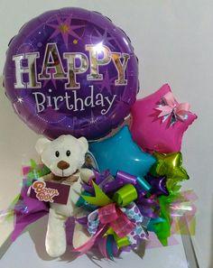 Balloon Arrangements, Balloon Centerpieces, Balloon Decorations, Candy Bouquet, Balloon Bouquet, Baby Shower Balloons, Birthday Balloons, Diy Birthday, Birthday Candy