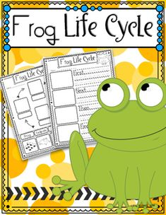 Frog Life Cycle Freebie: Have your students practice describing, labeling…