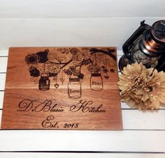 Large Custom Personalized Cutting Board by WildFireFlies on Gourmly