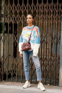 da3af0d6bd0 Pull Out a Vintage Sweater From Your Childhood and Rock It With Dad Sneakers