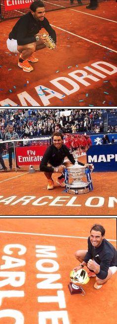 Rafa 2017 Monte Carlo (10) Barcelona (10) Madrid (5 )