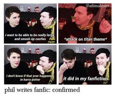 Plot twist Phil wrote the hat fic <<< nopeity nope I came out to have a good time and I'm honestly feeling so attacked right now.