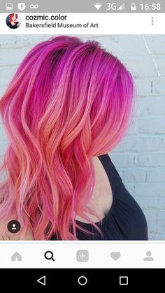 10 Amazing mermaid hair colour ideas – My hair and beauty Bold Hair Color, Cute Hair Colors, Pretty Hair Color, Hair Dye Colors, Love Hair, Gorgeous Hair, Pulp Riot Hair Color, Balayage Ombré, Coloured Hair