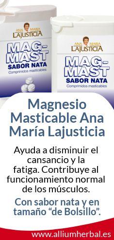 Magnesio masticable de Ana María Lajusticia. El #magnesio ayuda a disminuir el #cansancio y la #fatiga.