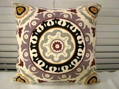 Suzani Decorative Pillow cover in Lavender by PillowLoftHomeDecor, $24.99