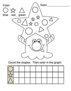 Graphing Shapes Monster Printable