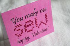 Valentine Stitches PDF Cards