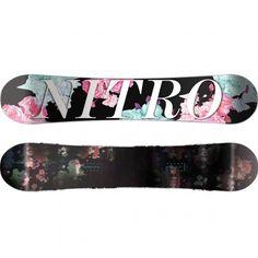 Nitro Fate FlatOut snowboard dames black pink