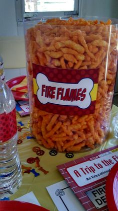 need some Fire Flames, Paw-tato chips, Puppy Bone cookies and Fetch sticks Fireman Party, Firefighter Birthday, Fireman Sam, 3rd Birthday Parties, Birthday Fun, Birthday Ideas, Fire Truck Birthday Party, Third Birthday, Birthday Decorations