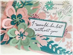 Blooms and Bliss-cardstock Blushing Bride, Island Indigo and Mint Macaron…