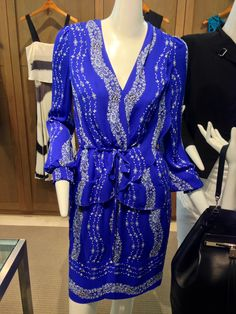 Bold blue dress from Marchesa Voyage.