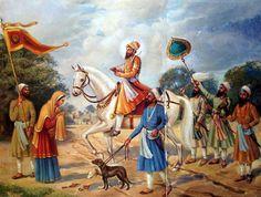 Guru Hargobind Dev ji blesses Mata Sulakhani |  Sikhpoint.com