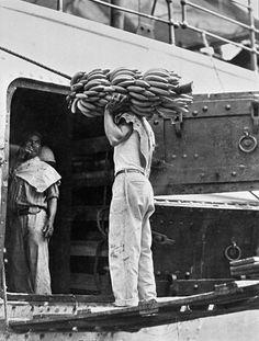 Tina Modotti • 1928, Transport de bananes à Veracruz, Mexique • http://espresso.repubblica.it/foto/2014/05/07/galleria/a-torino-una-retrospettiva-su-tina-modotti-1.163967#7