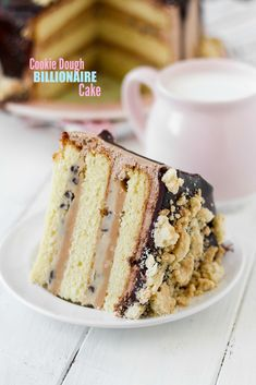 This Billionaire Cookie Dough Cake is rich enough for…you guessed it! Layers of velvety white cake, homemade caramel, and egg-free cookie dough make it truly special. This Billionaire Cookie Dough Cake is rich enough for…you guessed it! Layers o. Oreo Dessert, Dessert Recipes, Cupcake Recipes, Cupcakes, Cupcake Cakes, Bunt Cakes, Mini Desserts, Gelato, Chefs