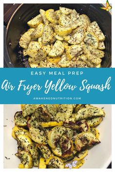 Easy Meal Prep: Air Fryer Roasted Yellow Squash  — Awakened Nutrition & Training Easy Meal Prep: Air Fryer Roasted Yellow Squash — Awakened Nutrition & Training<br> If you follow me on Instagram , then you know my air fryer and Instant Pot are MY JAM!! I have pretty much only used my Gourmia 5 Qt Air Fryer to cook vegetables since I got it last December. The clean up is super easy, the time to roast my veggies is often cut in half, and they come out perf Roasted Yellow Squash, Cooking Yellow Squash, Yellow Squash Recipes, Easy Meal Prep, Healthy Meal Prep, Easy Healthy Recipes, Easy Meals, Healthy Food, Air Fryer Recipes Low Carb