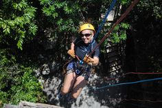 Just lil ole me rappeling at Aventuras Mayas, love the extreme sports in the Riviera Maya!    www.aventurasmayas.com
