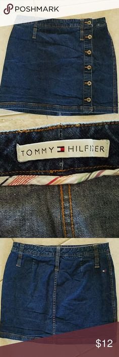 Tommy Hilfiger denim mini skirt - vintage Great condition! Buttons up the front. From 2004! Tommy Hilfiger Skirts Mini