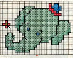 Baby Cross Stitch Patterns, Cross Stitch Baby, Simple Cross Stitch, Cross Stitch Animals, Crochet Baby Bibs, Baby Blanket Crochet, Cross Stitching, Cross Stitch Embroidery, Crochet Elephant Pattern
