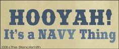 HOOYAH! It's a Navy thing