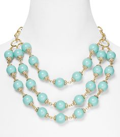 Aqua necklace- gorgeous colors and charitable too!