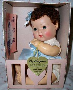 """Effanbee 15"""" Dy-Dee BABY MOLD 3 RARE Brunette - Mint in Box"""