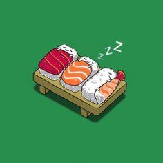 sleeping sushi