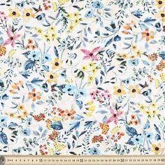 Tiny Garden Linen Cotton White 132 cm
