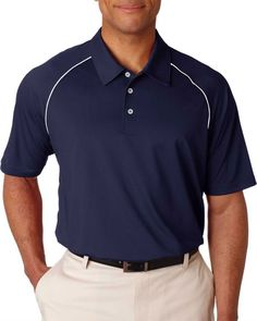 Piped polo – Buy discount mens piped colorblock polo at Gotapparel.com.