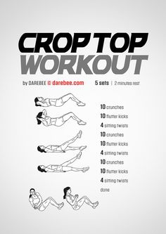 Crop Top Workout by DAREBEE #darebee #workout #fitness #abs