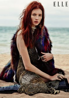 Model Kristin Zakala heads to the beach for this editorial featured in the December 2015 issue of ELLE Canada. Photographed by Owen Bruce and styled by Juliana Schiavinatto, Kristin channels her inner bohemian goddess in autumn layers with opulent embellishments. Denis Desro worked on art direction with hair and makeup by Susana Hong. The designs …