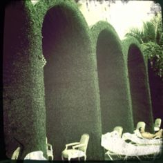 The cabanas at the Mondrian in Miami.