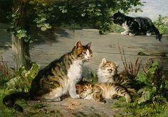 http://www.kunstkopie.de/a/adam-julius/katzenmutter-mit-drei-jun-3.html