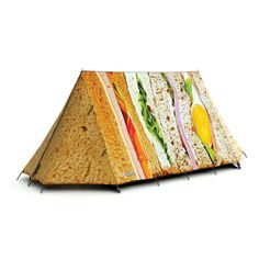 Is it a tent, or a big sandwich??!! Bring this to your next music festival or on your next camping trip and watch the smiles!